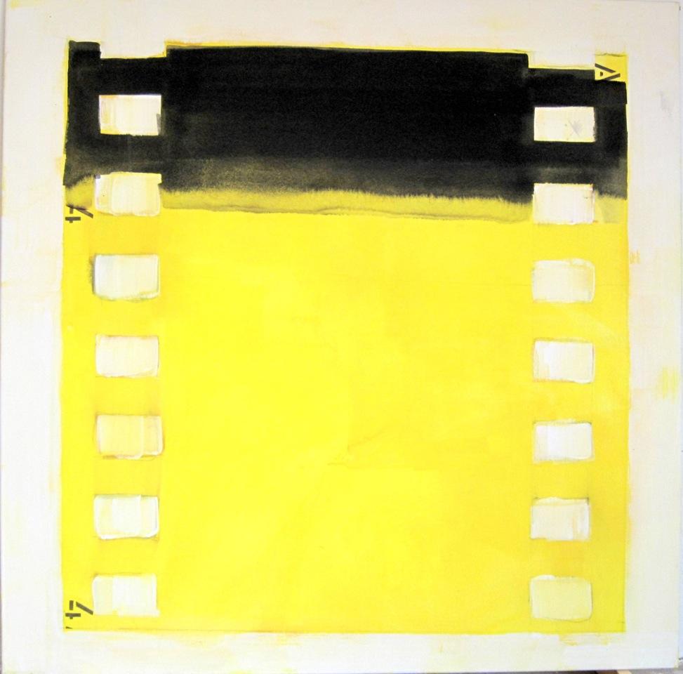 """Stummfilm"" Acryl auf Leinwand, 100 x 100 cm"